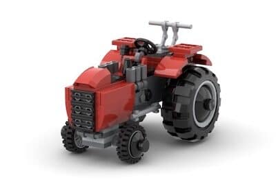 lego traktor gerendert gallusbrick