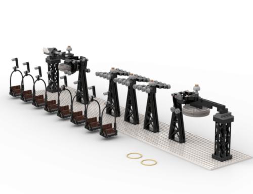 Ein Sessellift aus LEGO Steinen