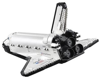 space shuttle 10283 hinten